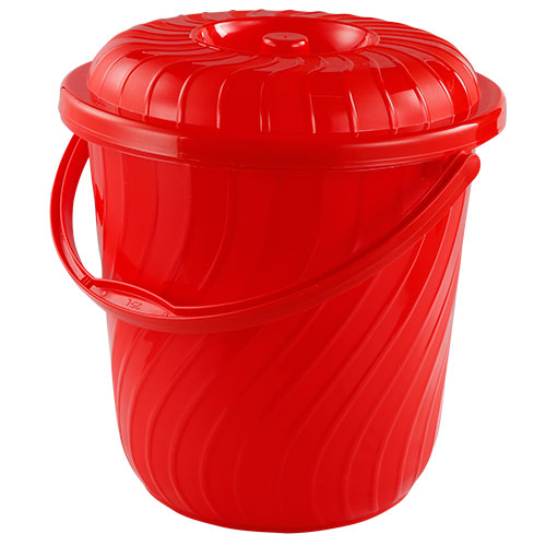 Deluxe Bucket Red with lid 35L