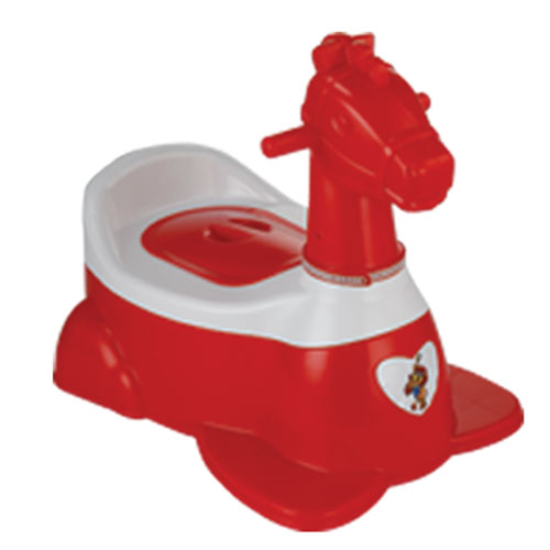 Horse Baby Potty Red
