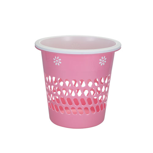 Two Color Paper Basket Perforated Pink