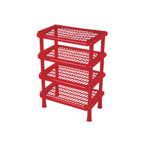 4 Steps Shoe Rack Red