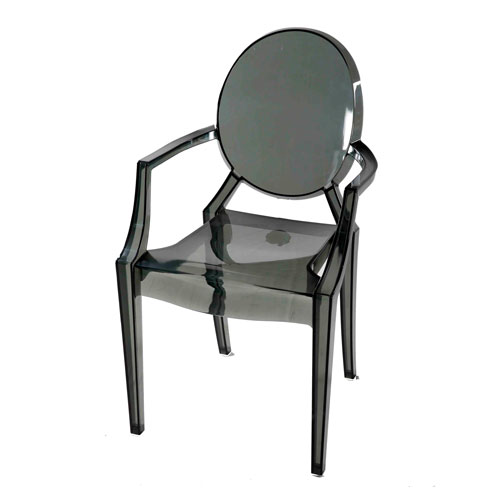 Transpa Moon-Back (Arm) Chair – Trans Gray