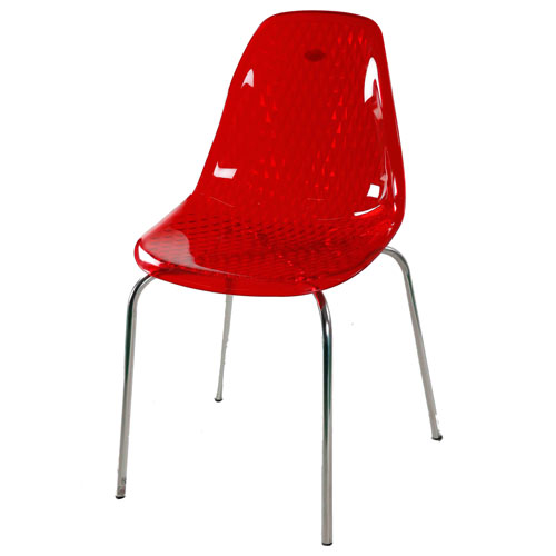 Transpa Noble Chair – Trans Red