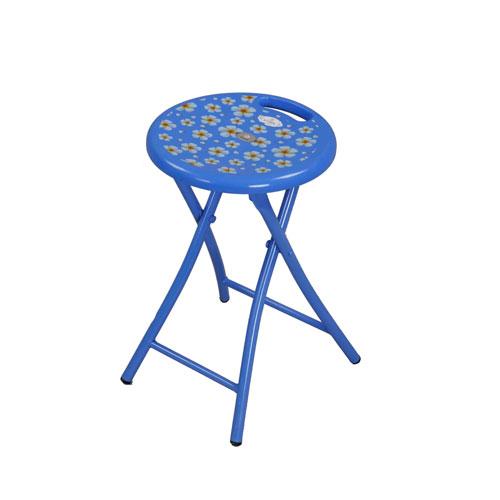 Stool Round StLeg -Blue