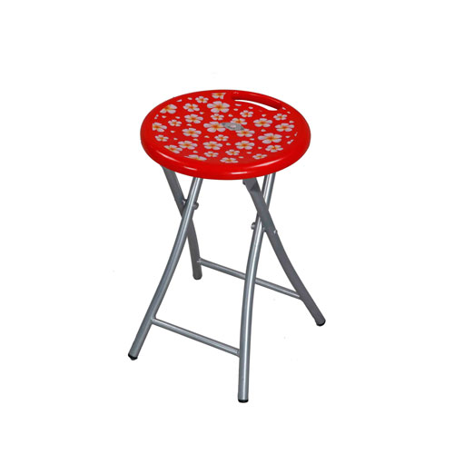 Stool Round StLeg -Red