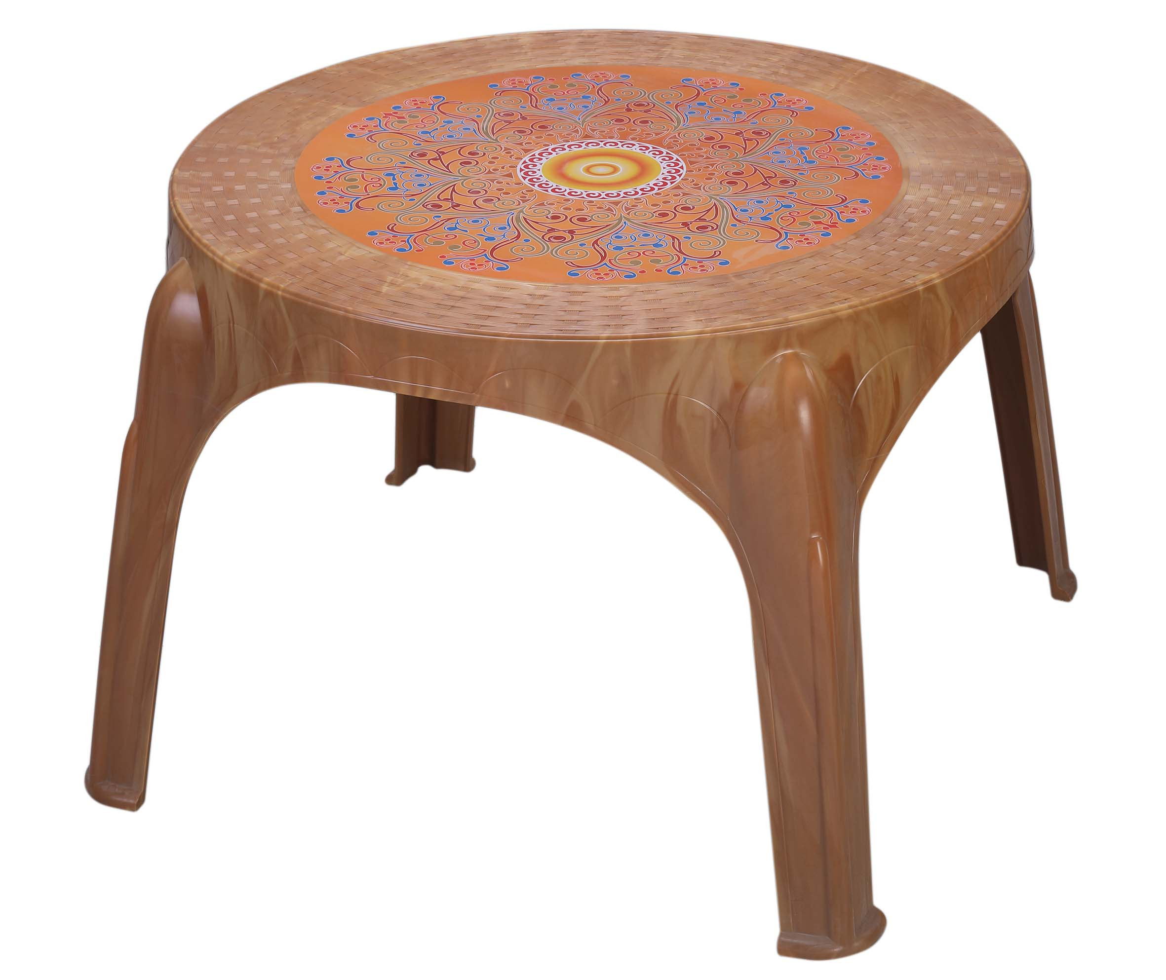 Caino Center Table Ro Printed Crown-R