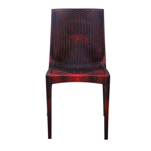 Caino Armless Chair-Rose Wood