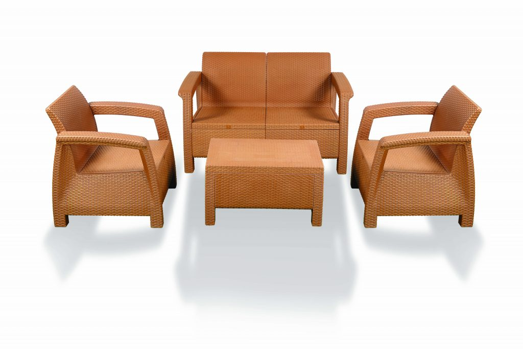 Caino Sofa 4 Pcs Set Wo Foam Eagle Brown Rfl