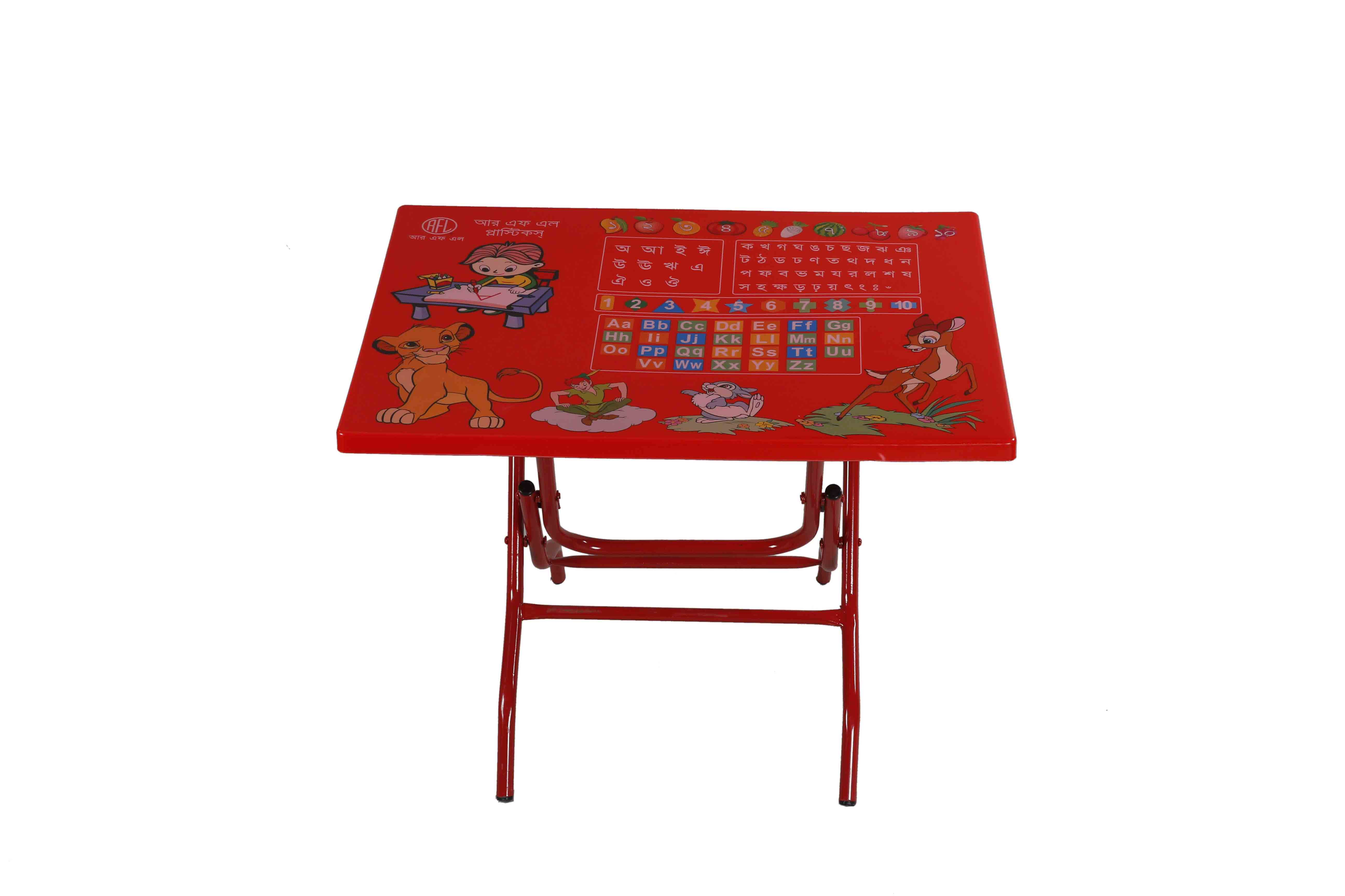 Baby Reading Table StLeg Notebook-Red
