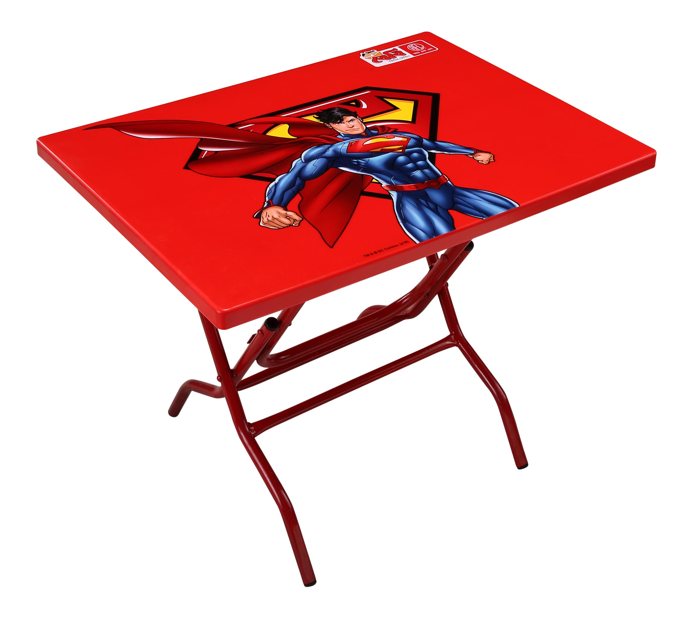 Baby Reading Table StLeg (Superman) – Red