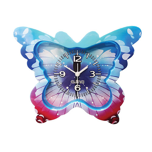 Butterfly Table Clock Blue