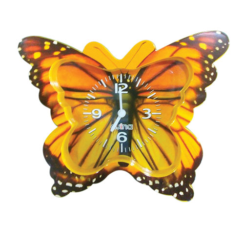 Butterfly Table Clock Yellow