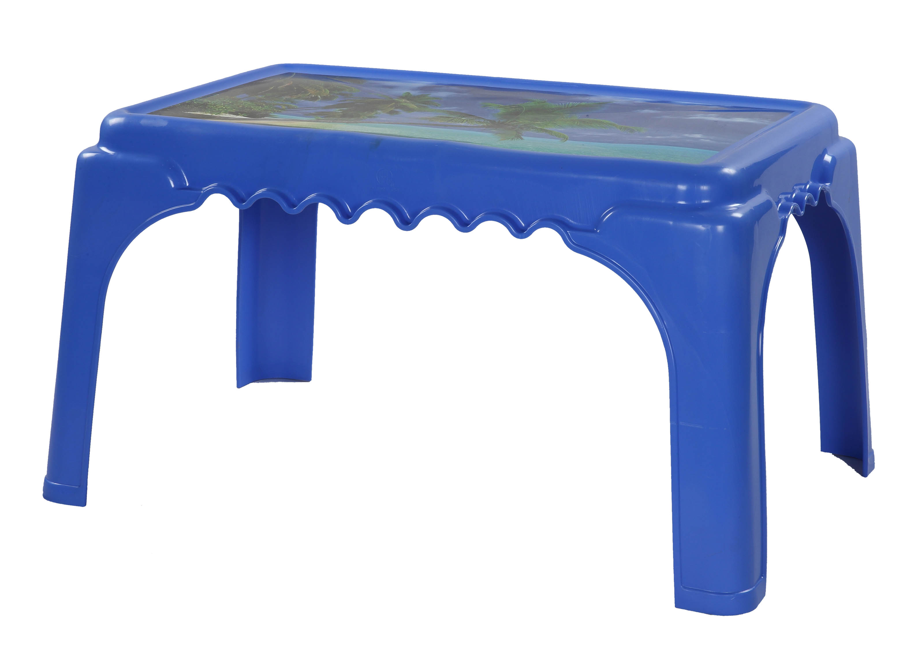 Classic Center Table Printed Ocenia-SM Blue