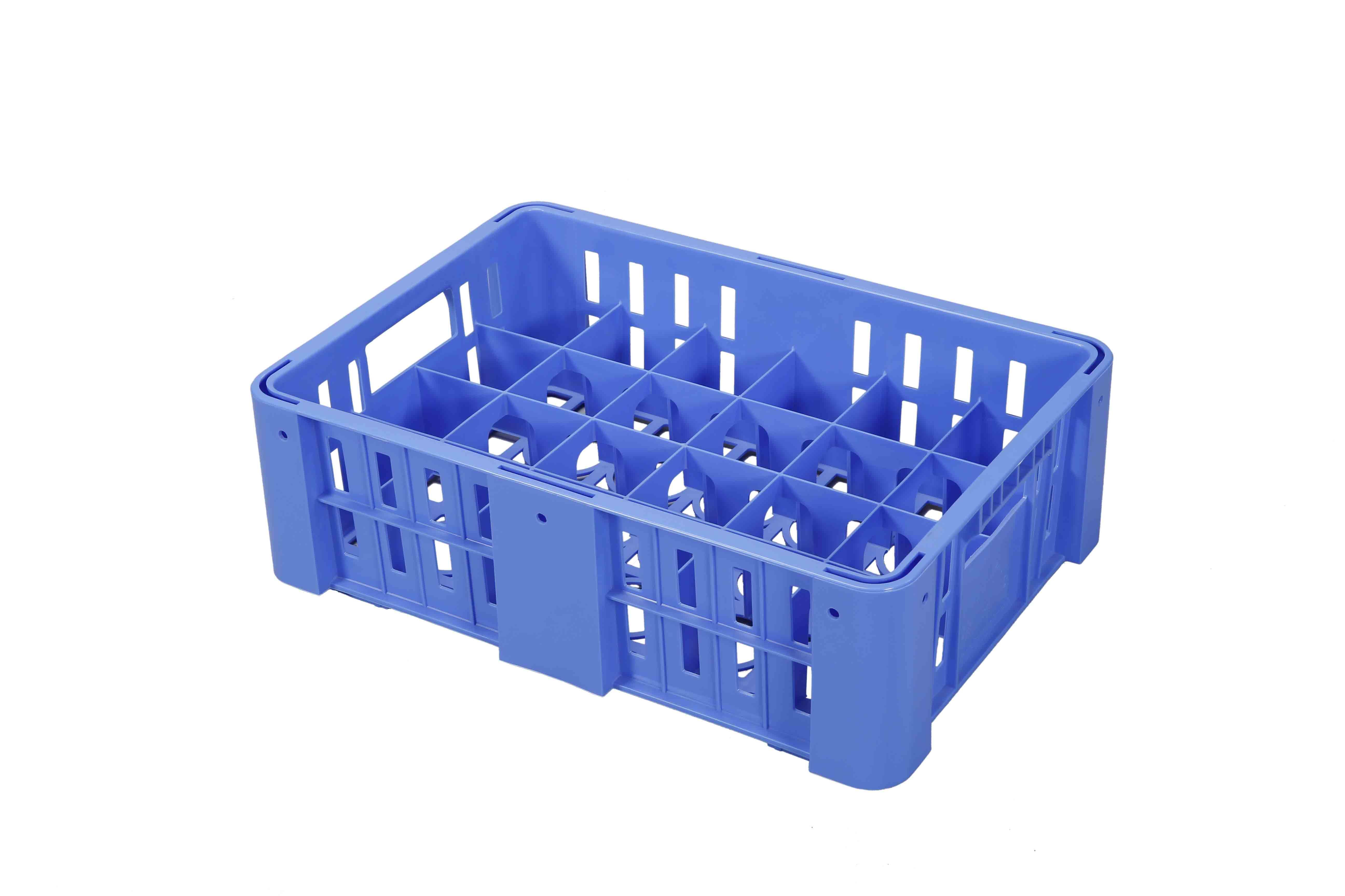 Decorator Glass Crate – SM Blue