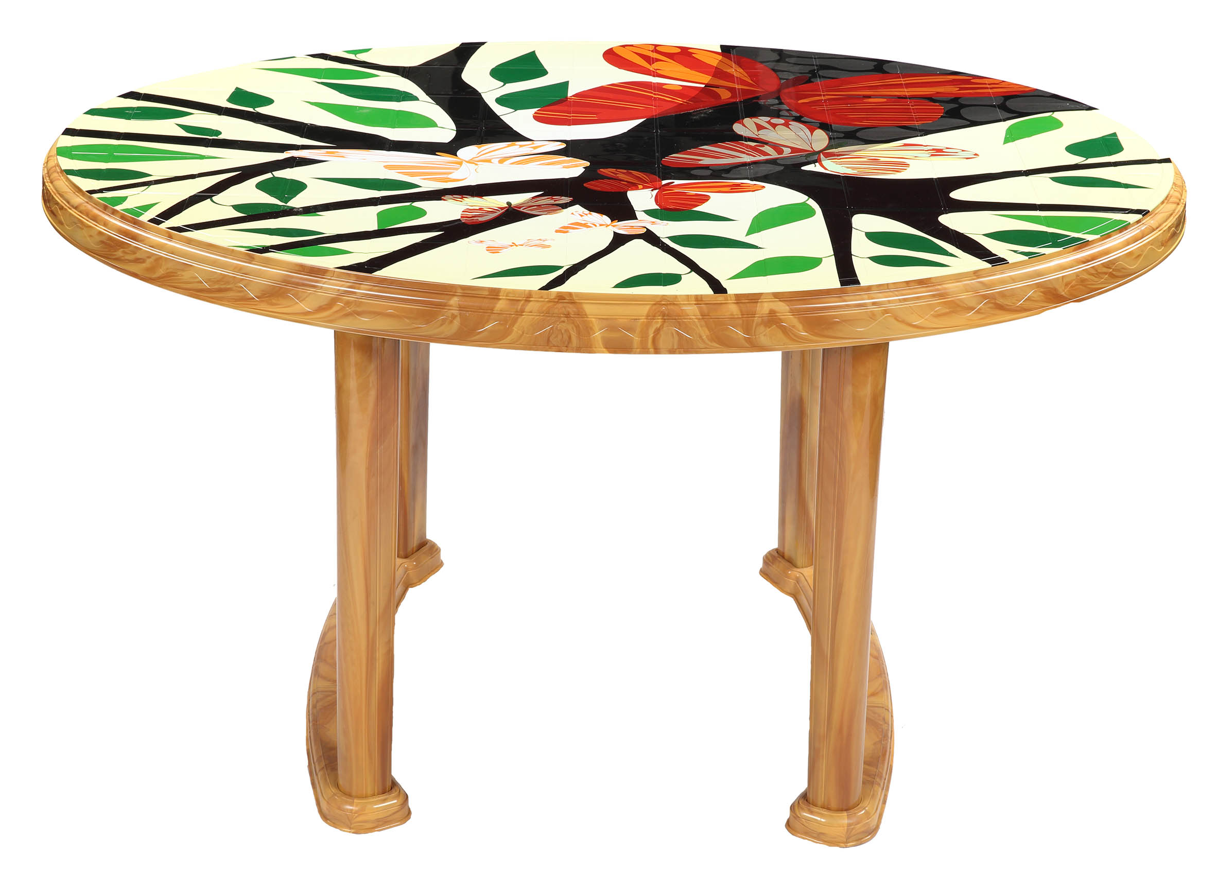 Dining Table 4 Seat Oval P/L Print Love Tree-SW