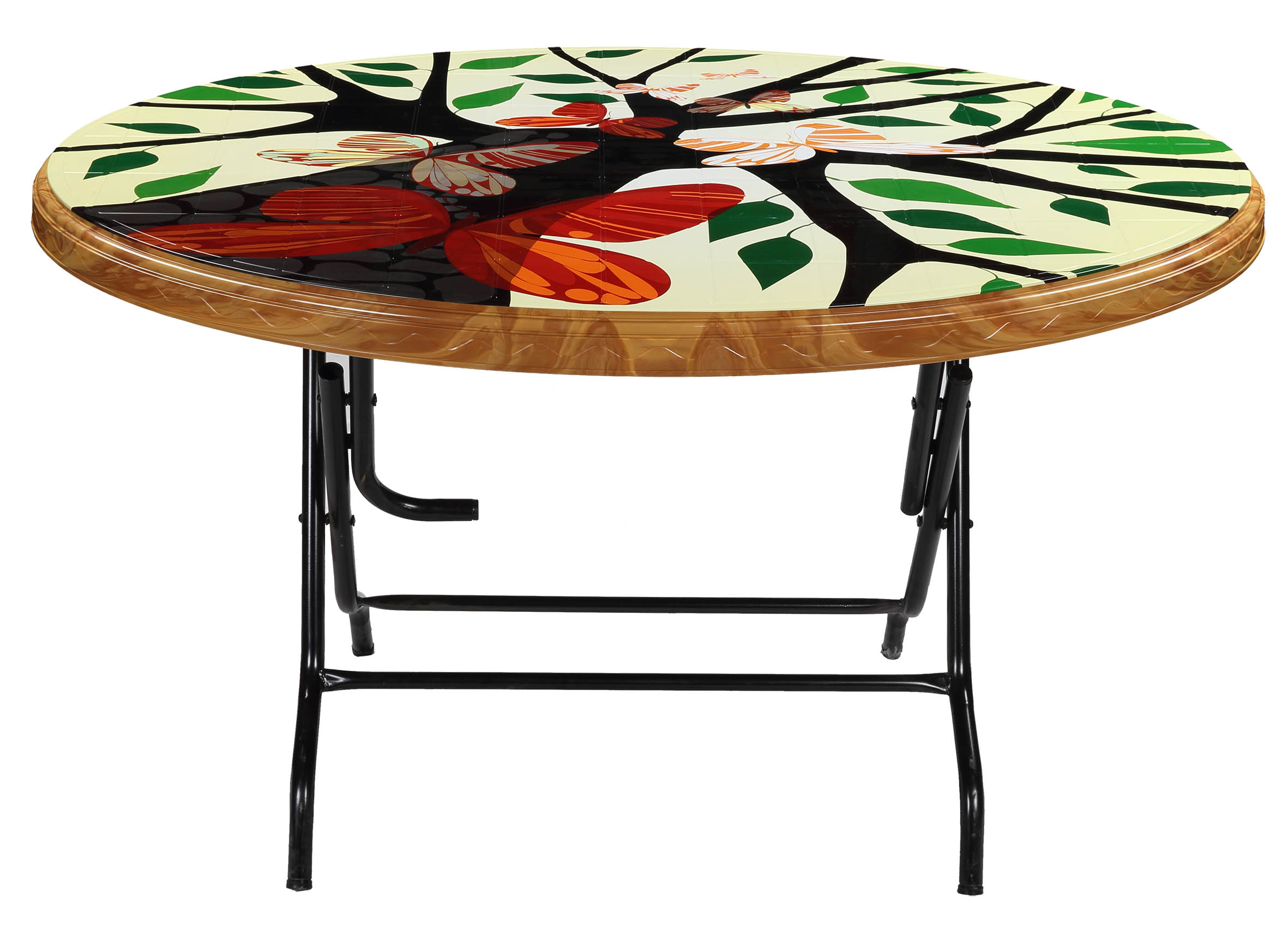 Dining Table 4 Seat Oval S/L Print Love Tree-SW