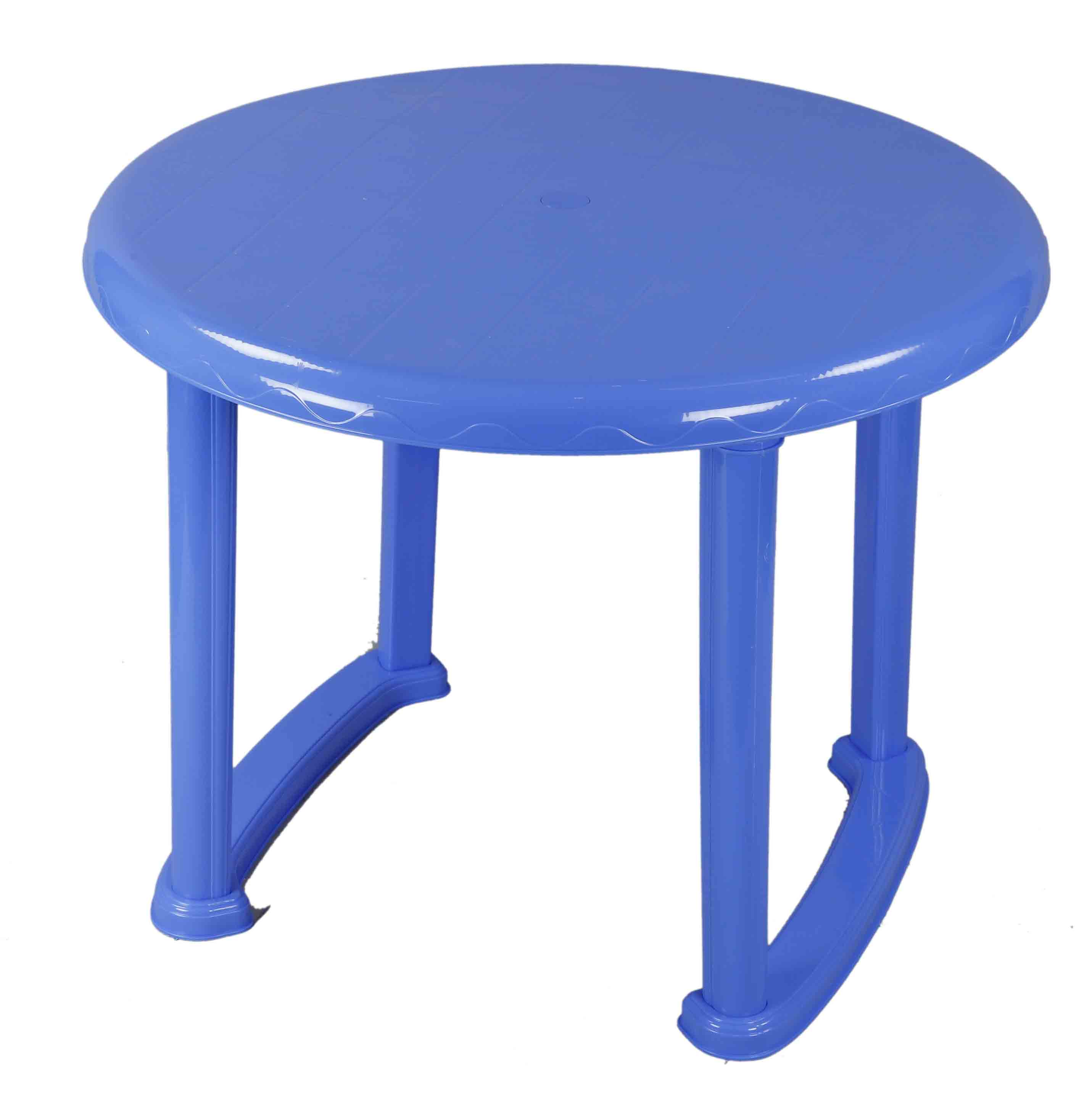 Dining Table 4 Seat Ro Plas/Leg-SM Blue