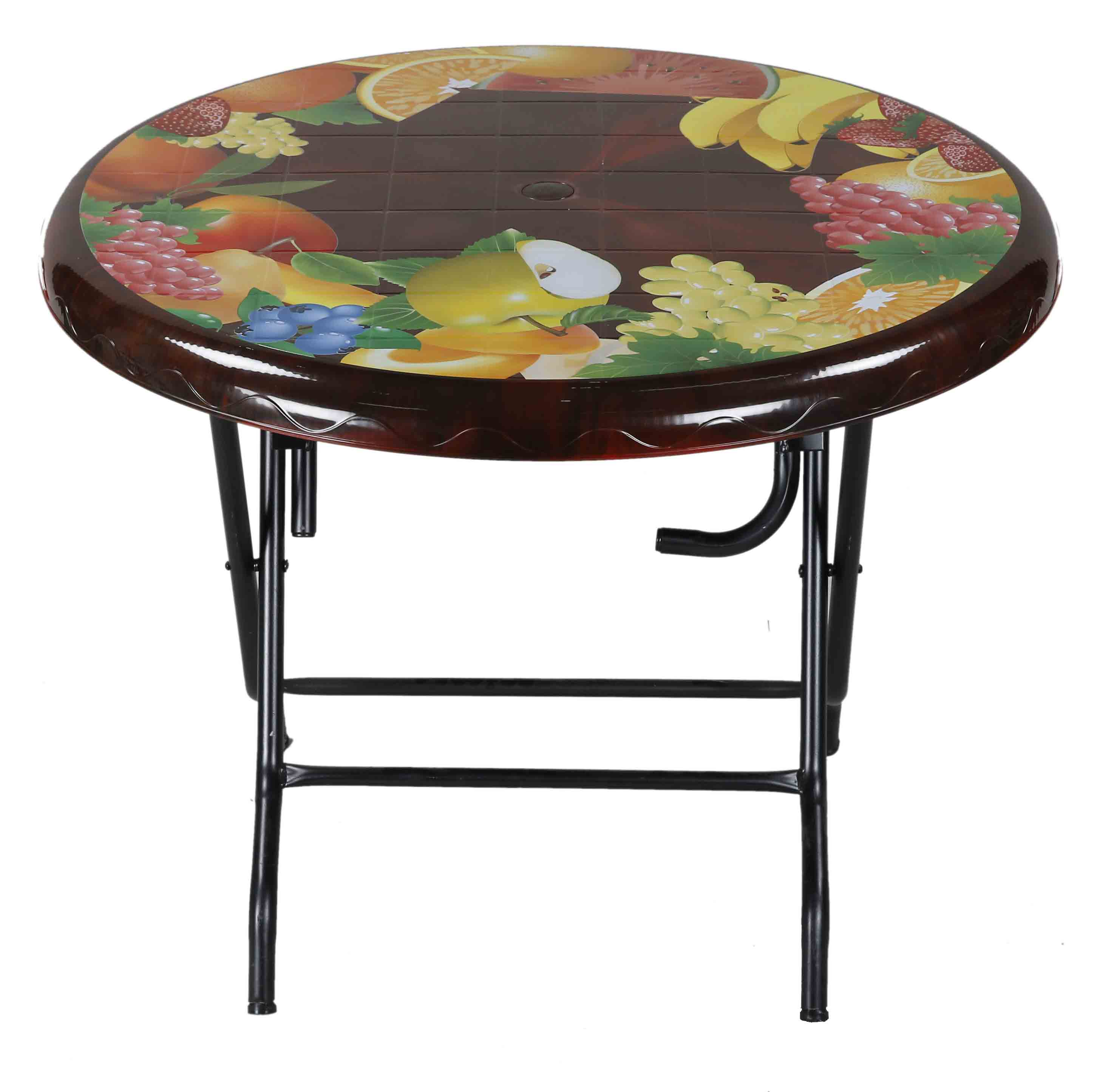 Dining Table 4 Seat Ro S/L Print Mixed Fruit-RW