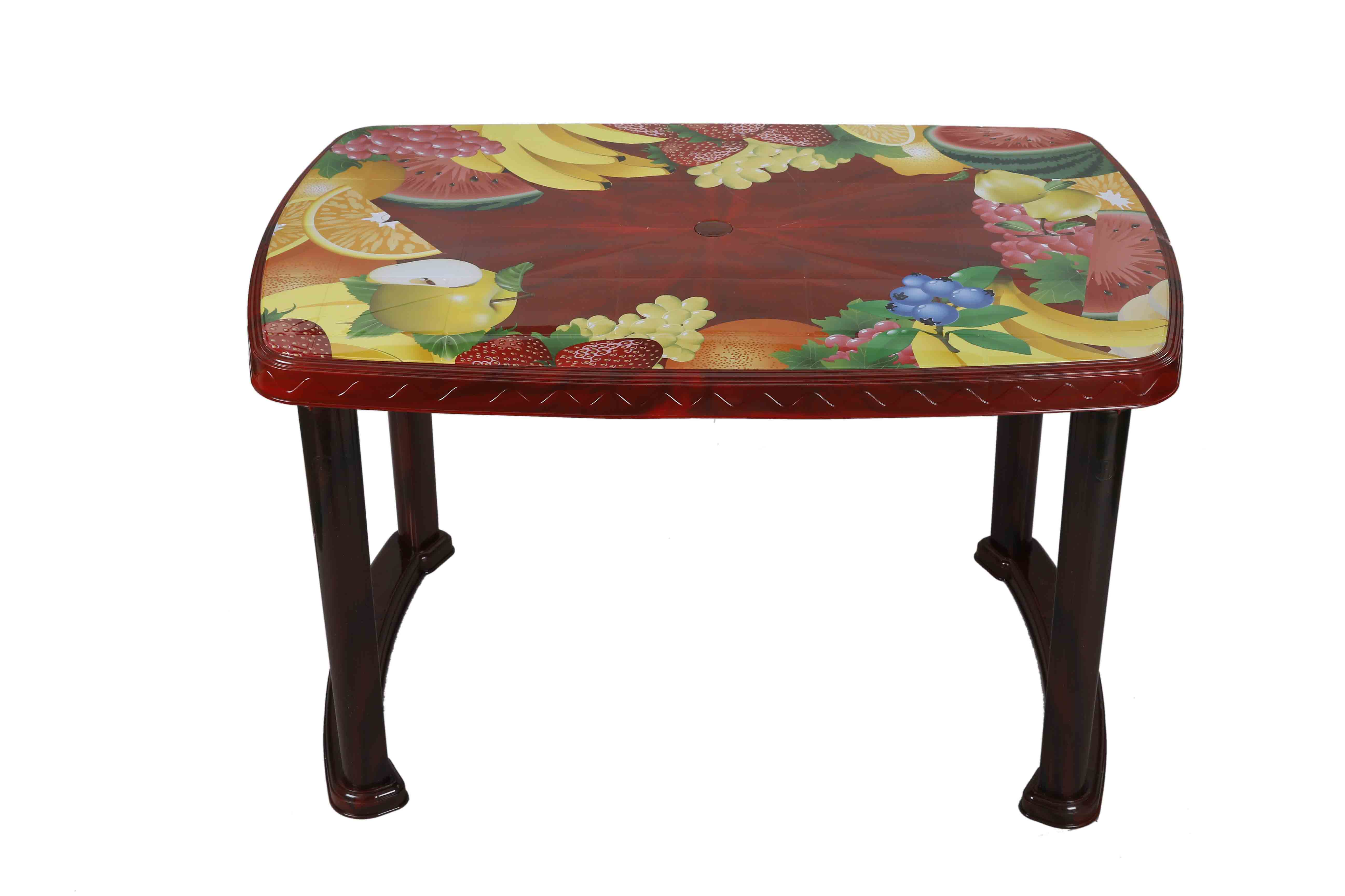 Dining Table 4 Seat Rtg P/L Print Bunny Flower -SW