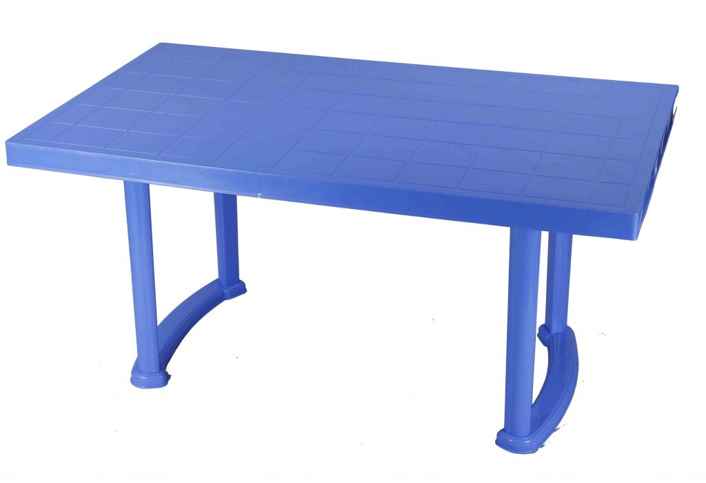 Dining Table 4 Seat Rtg Plas Leg Sm Blue Rfl