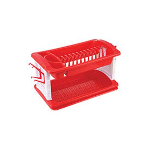 English Dish Rack Red