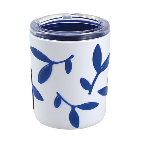 Leaf Pencil Stand Trans Blue