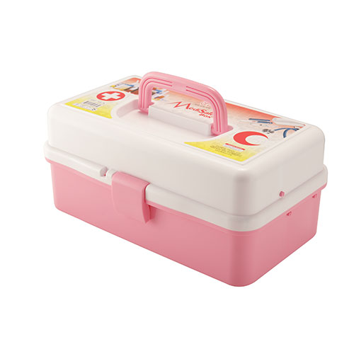 Medi Safe Box Light Pink & White