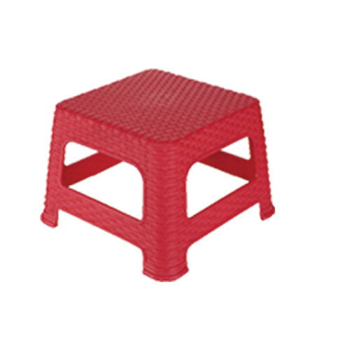 Medium Cane Stool Red