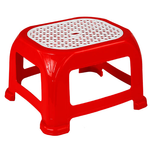 Popular Medium Net Stool Red