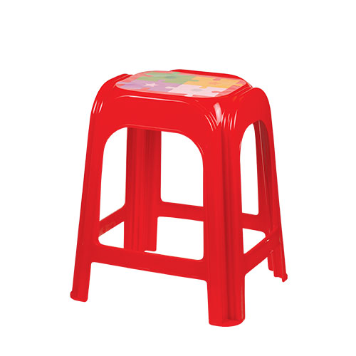 Power Stool High Red
