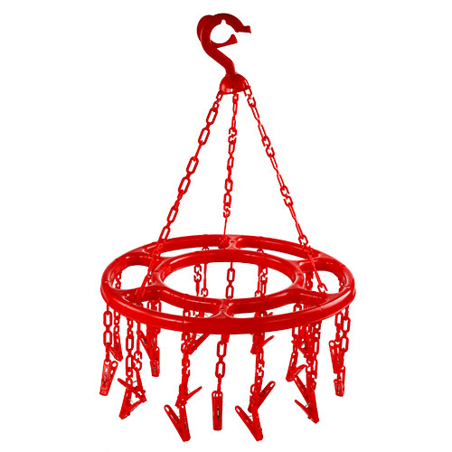 Round Hanger Red 24 Pcs