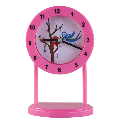 Sweet Time Table Clock Light Pink