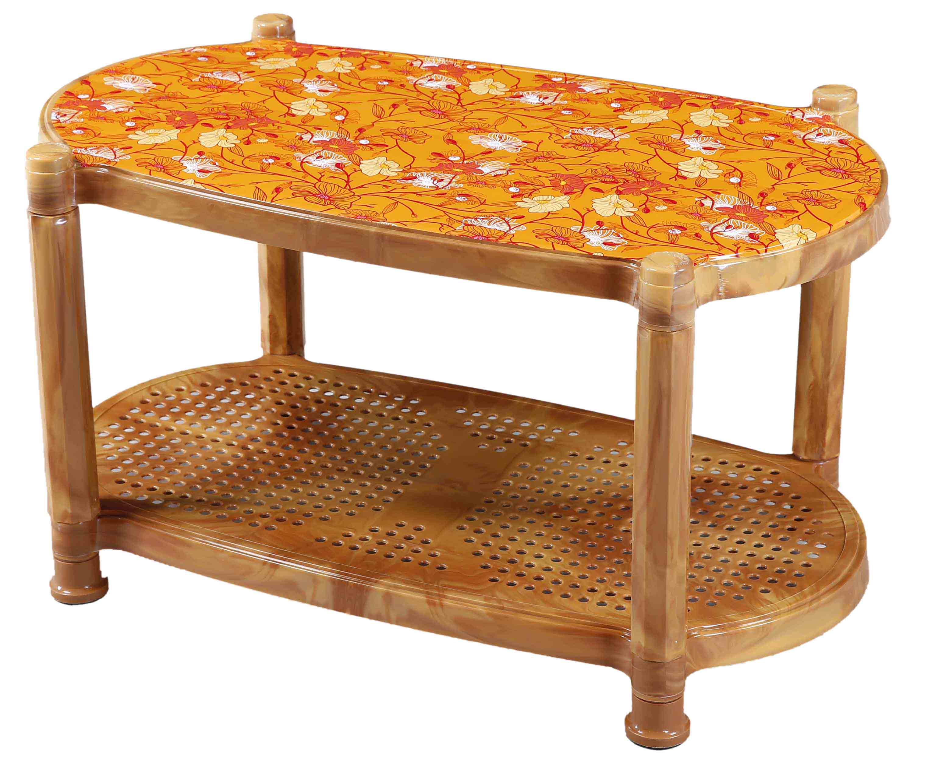 Tea Table With Stopper Printed Nest-S.Wood
