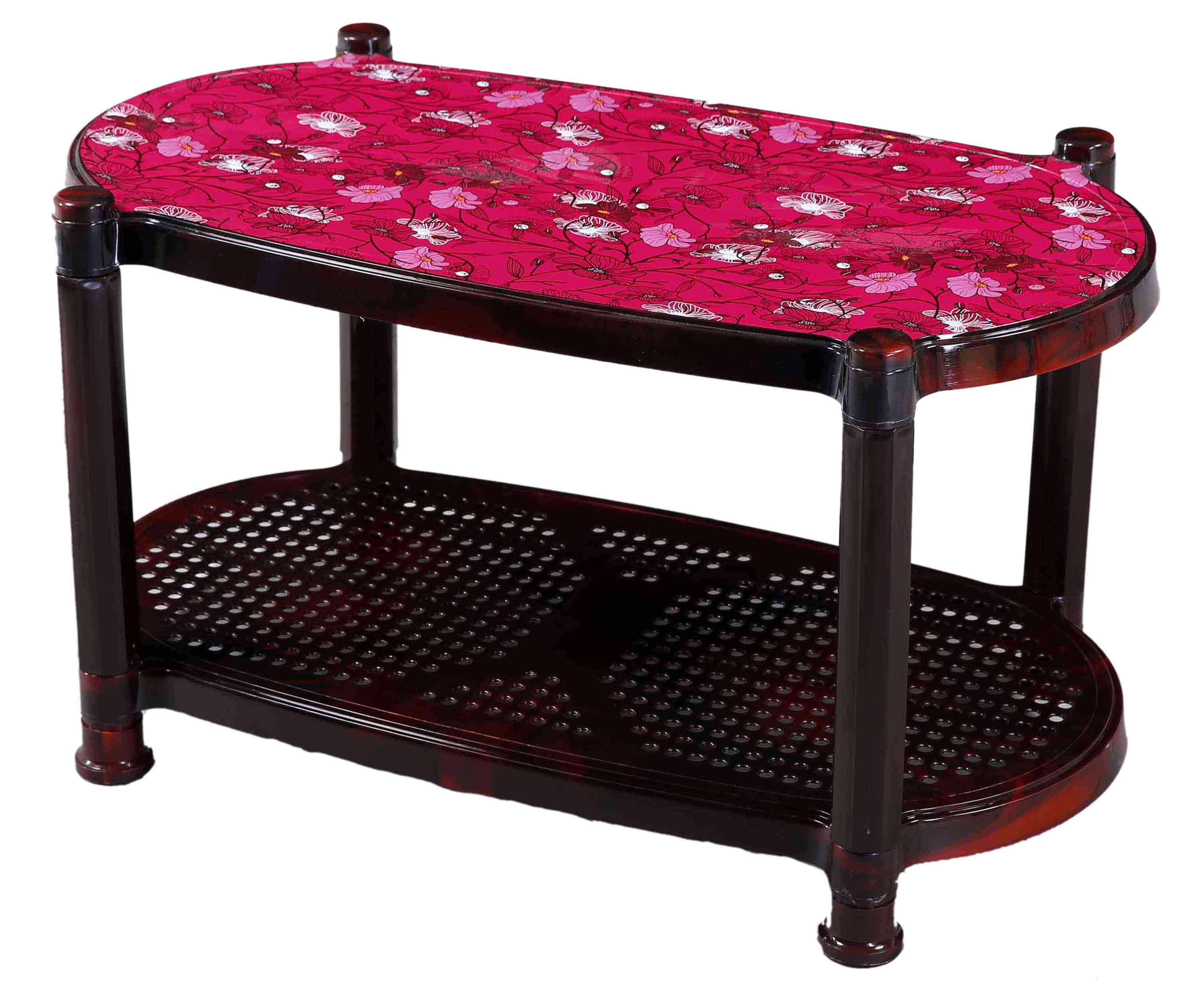 Tea Table With Stopper Printed Nest-SM Blue