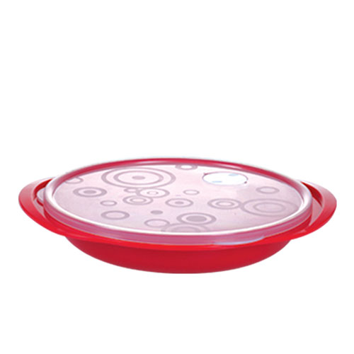 Trim Container Round Segmented Plate with Valve 1000ml
