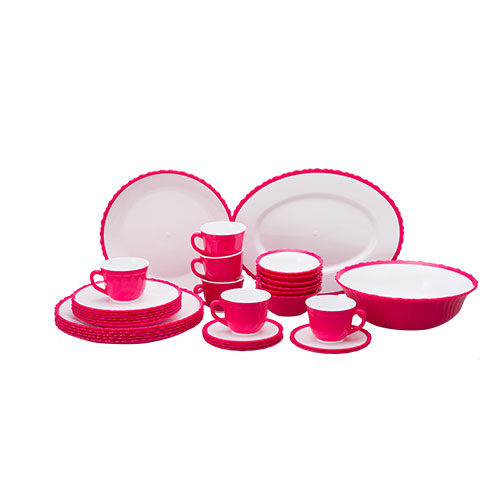 Tulip Dinner Set 32 pcs set pink