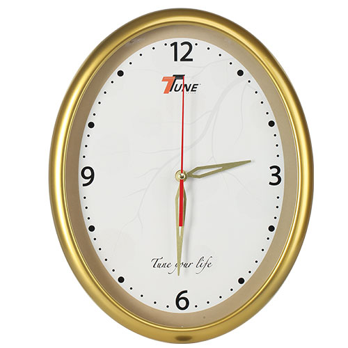 Tune Oval Stylish Wall Clock 1 Golden