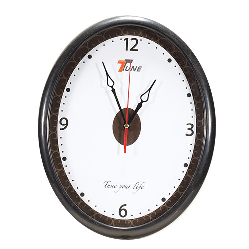 Tune Oval Wall Clock Black