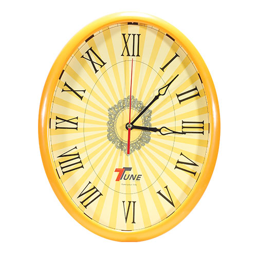 Tune Oval Wall Clock Orange