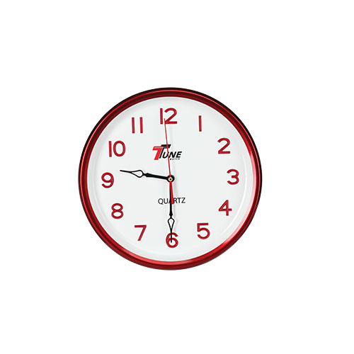 Tune Round Wall Clock Red