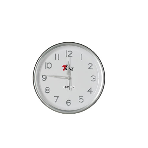 Tune Round Wall Clock with Digit Silver Silver Hand