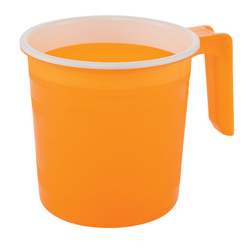 Two Color Design Mug 500ml Trans Orange