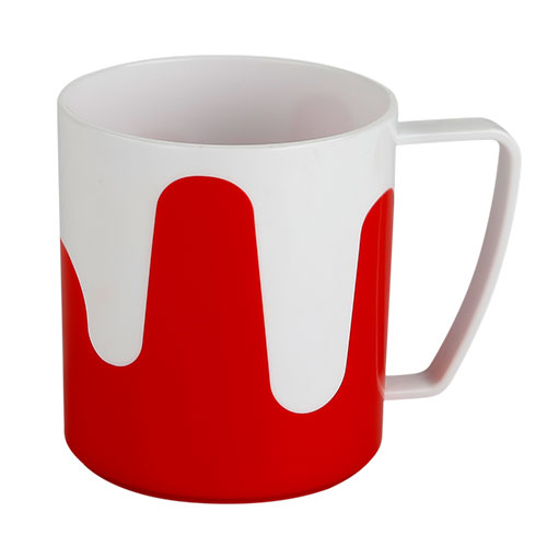Two Color Shofia Mug White & Red