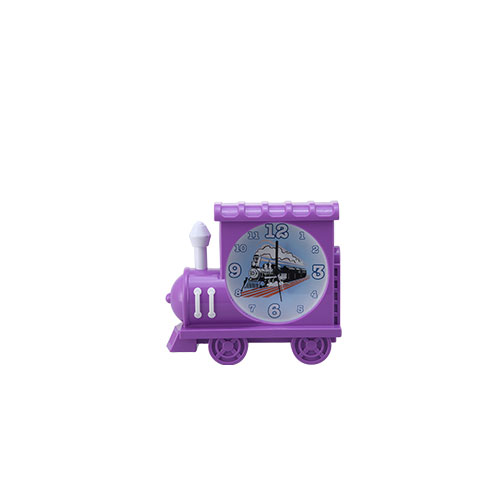 Train Table Clock Violet