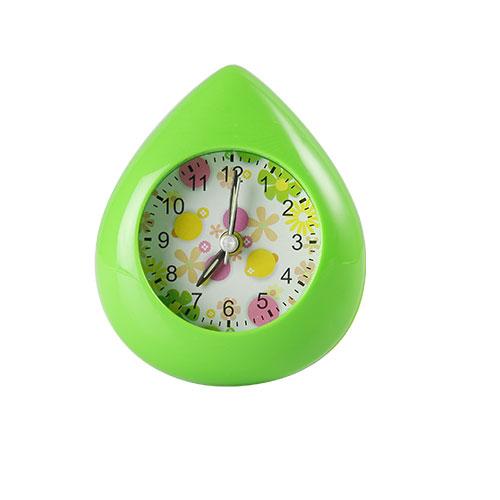 Water Drop Table Clock Green