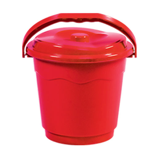 Wave Bucket Red with lid 18L