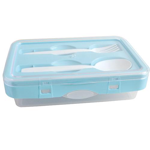 Flip & lock Tiffin box-Light Blue