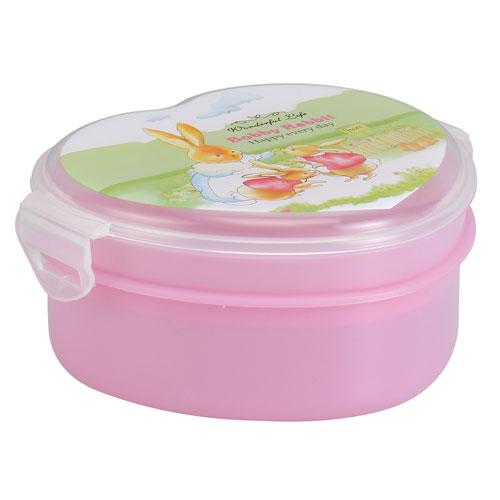Love Shape Tiffin Box-Pink