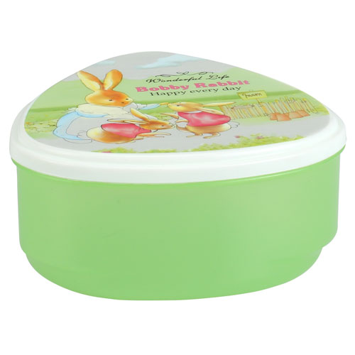 Tringle Shape Tiffn Box-Trans Green