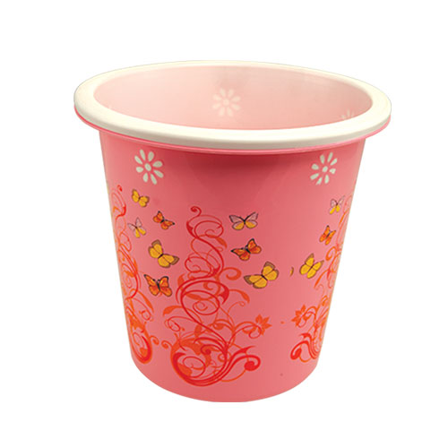 Two Color Milano Paper Basket Pink