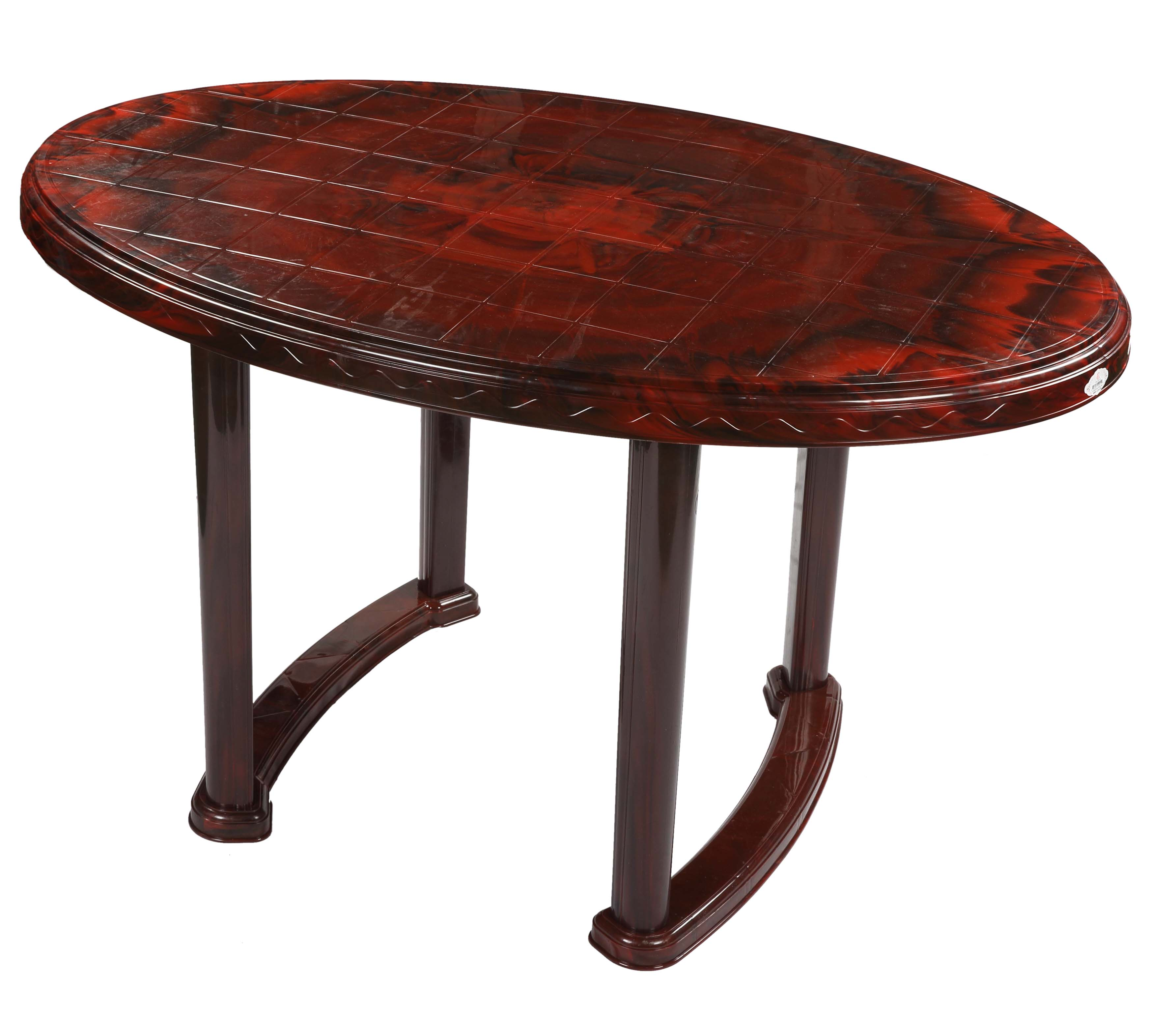 4 Seated Oval Table Plas Rose Wood